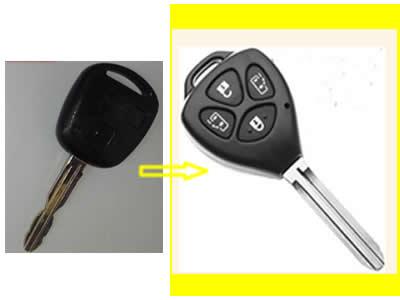 Αντιγραφή απλού κλειδιού μάρκας Toyota Celica 2002, και μετατροπή του σε κλειδί με τηλεχειρισμό